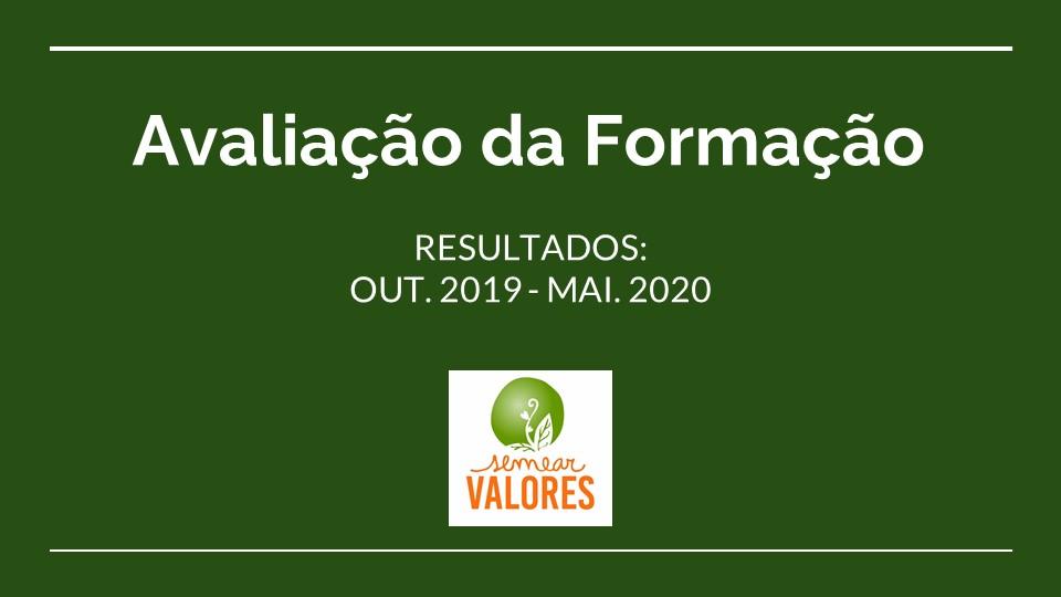Avaliação da Formação 2019_2020